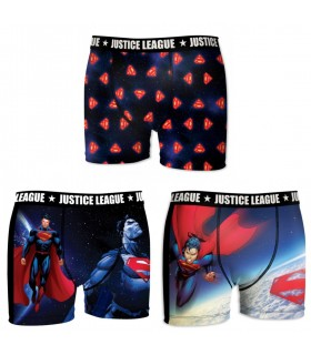 Lot de 3 boxers homme Justice League