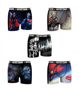 Lot de 5 Boxers Homme Justice League