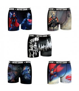 Lot de 5 Boxers homme Justice League