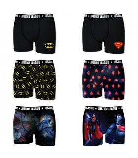 Lot de 6 Boxers Homme Justice League