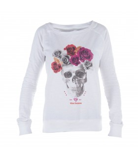 Sweat Fille Flower Skull