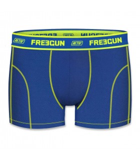 Aktiv Blue and Yellow Men's Boxer colorz