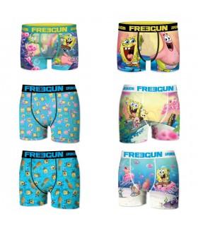 Pack of 6 boy's Spongebob Boxers