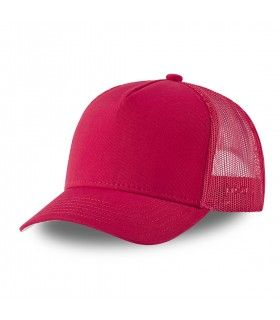 Men's Capslab Colorz Red Trucker Cap