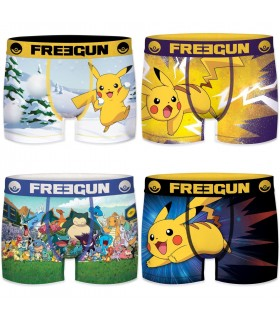 Lot de 4 boxers homme Pokemon