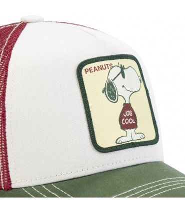 Peanuts joe Beige Capslab Cap with mesh zoom on the patch