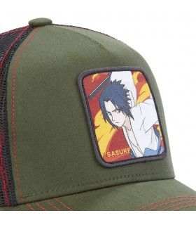 Naruto Sasuke Grey Capslab Cap with mesh zoom on the patch