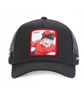 Captain Tsubasa Genzo Black Capslab Cap with mesh front of the cap