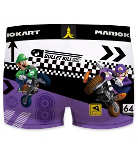 Boxer microfibre homme Mario Kart Luigi vue de dos