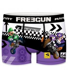 Lot de 4 Boxers microfibre homme Freegun Mario Kart