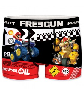 Lot de 3 Boxers mircofibre garçon Freegun Mario Kart