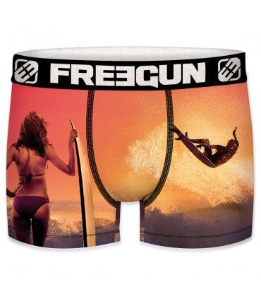 Pack of 4 men's Surfing, Flamingo and Basketball Boxers