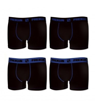 Pack of 4 boy's cotton Blue Boxers