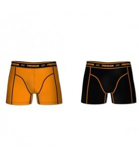Lot de 2 Boxers coton homme AKTIV Orange et Noir