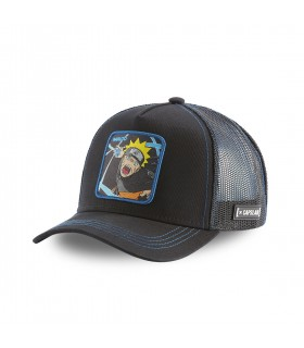 Men's Capslab Naruto Black Cap