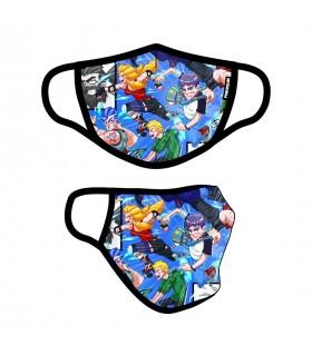 Masque Tissu Lavable en trois couches Anime