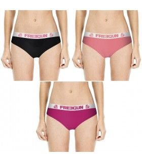Lot de 3 Boxers Freegun fille Uni