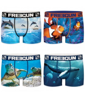 Pack of 4 men's Ocean Life Boxers