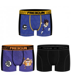 Pack of 3 men's Dragon Ball Z Kame and Vegeta Boxers