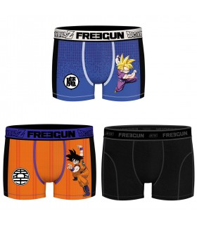 Lot de 3 Boxers Freegun homme Dragon Ball Z Aktiv Goku et Gohan
