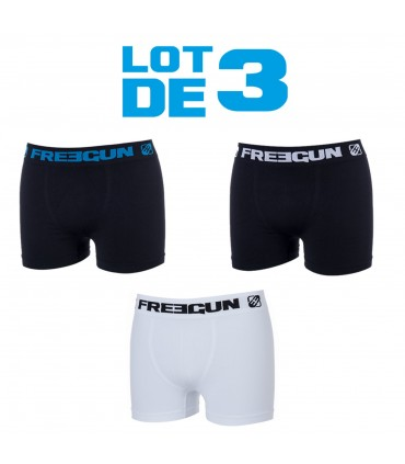 Lot de 3 Boxers Homme Black & White