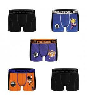Lot de 5 Boxers Freegun homme Dragon Ball Z Vegeta et Kame