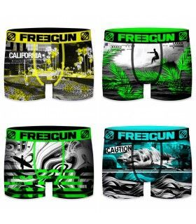 Lot de 4 Boxers Freegun homme Fluo