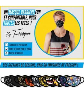 Masque Tissu Lavable en trois couches Skat Petite Taille