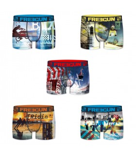 Lot de 5 Boxers Freegun homme Winter Sports
