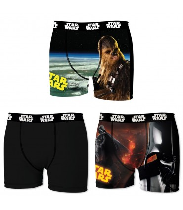 Lot de 3 Boxers homme Vador vs Chewbacca