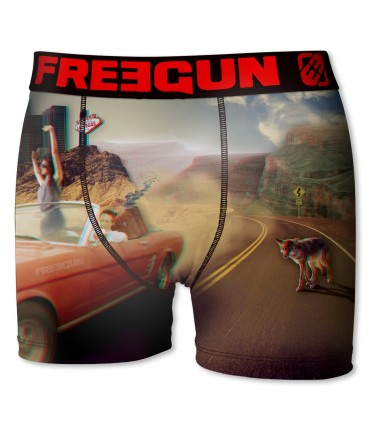 Boxer garçon road multicolore freegun