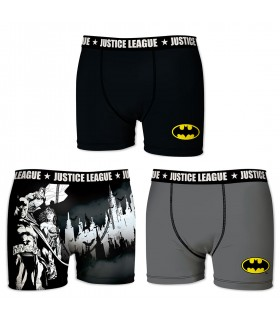 Lot de 3 Boxers Justice League garçon Batman