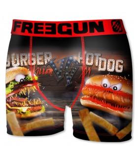 Boxer Garçon Burger Vs Hotdog