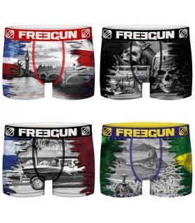 Lot de 4 Boxers Freegun homme Nations 2