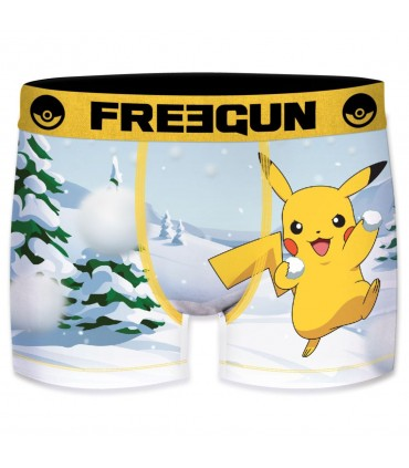 Boxer homme microfibre Freegun Neige Pokemon Multicolore