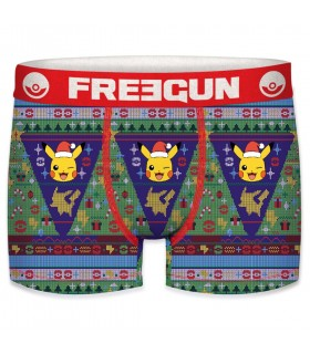 Boxer Freegun homme Pokemon Noel