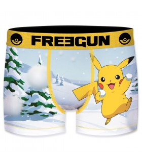 Boxer Freegun garcon Pokemon Neige