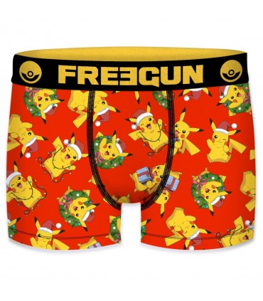 Boxer garcon microfibre Freegun Couronne Pokemon Multicolore
