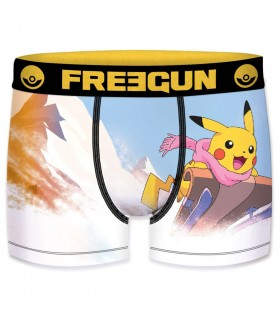 Boxer Freegun garcon Pokemon Luge