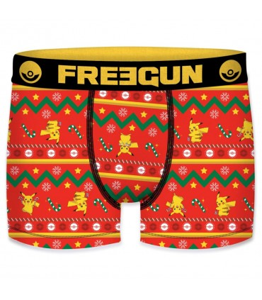 Boxer garcon microfibre Freegun Snow Pokemon Multicolore
