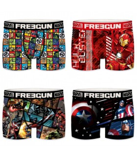 Lot de 4 Boxers Freegun homme Marvel