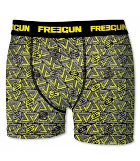 Boxer Homme Triangle Jaune