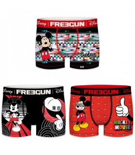 Lot de 3 Boxers Freegun garçon Disney Mickey Mouse