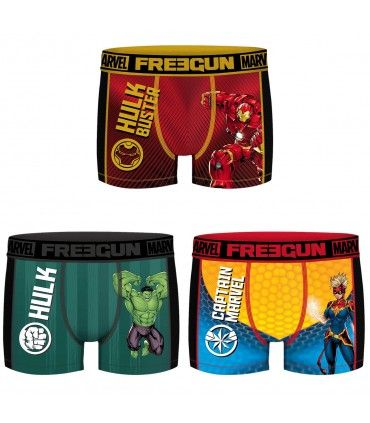 Lot de 3 Boxers Freegun homme Aktiv Marvel