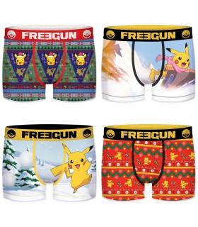 Lot de 4 Boxers Freegun garçon Pokemon Winter