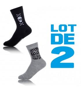 Lot de 2 Paires de Chaussettes Garçon Logo