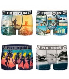 Lot de 4 Boxers Freegun homme Summer
