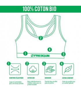 Lot de 4 Brassières femme coton Bio