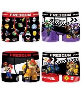 Lot de 4 Boxers Freegun homme Mario Kart