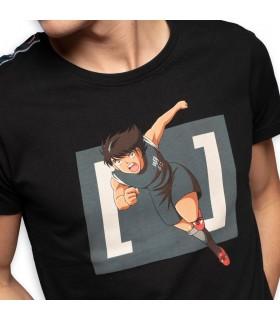 T-Shirt homme Captain Tsubasa Kojiro Noir